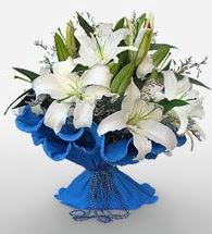 4 dal kazablanka çiçeğinden buket  Erzurum çiçek yolla , çiçek gönder , çiçekçi