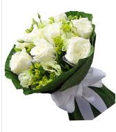 9 adet beyaz gül buketi  Erzurum çiçek servisi , çiçekçi adresleri