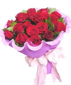 12 adet kırmızı gülden görsel buket  Erzurum çiçek online çiçek siparişi