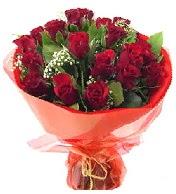 12 adet görsel bir buket tanzimi  Erzurum yurtiçi ve yurtdışı çiçek siparişi