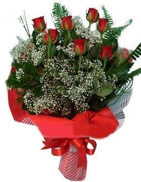7 kırmızı gül buketi  Erzurum çiçek , çiçekçi , çiçekçilik