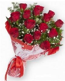 11 kırmızı gülden buket  Erzurum çiçekçi mağazası