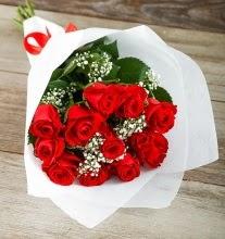 9 kırmızı gülden buket çiçeği  Erzurum cicek , cicekci