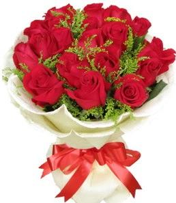 19 adet kırmızı gülden buket tanzimi  Erzurum çiçek , çiçekçi , çiçekçilik