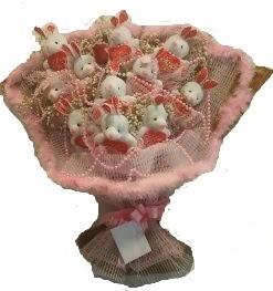12 adet tavşan buketi  Erzurum ucuz çiçek gönder