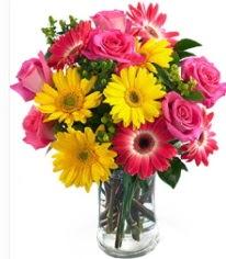 Vazoda Karışık mevsim çiçeği  Erzurum çiçek online çiçek siparişi