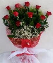 11 adet kırmızı gülden görsel çiçek  Erzurum uluslararası çiçek gönderme