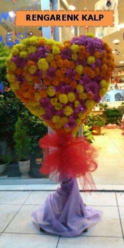 Ankara mevsim çiçeklerinden kalp perförje  Erzurum cicekciler , cicek siparisi
