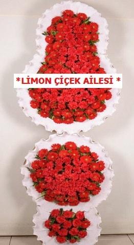 3 katlı kırmızı düğün açılış çiçeği  Erzurum cicek , cicekci