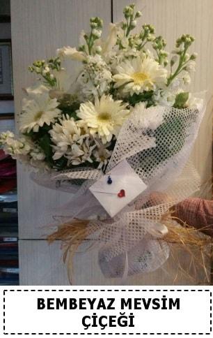 Bembeyaz görsel mevsim çiçek buketi  Erzurum online çiçek gönderme sipariş
