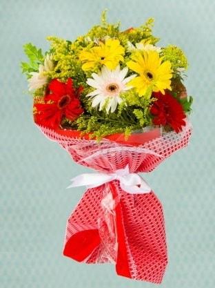 Karışık Gelbera Buketi  Erzurum çiçek servisi , çiçekçi adresleri