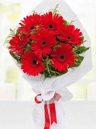 Kırmızı Gelbera Buketi  Erzurum güvenli kaliteli hızlı çiçek