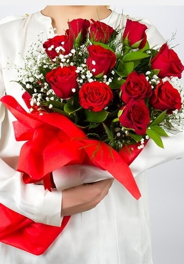 Aşk Gülleri 11 Adet kırmızı gül buketi  Erzurum cicekciler , cicek siparisi