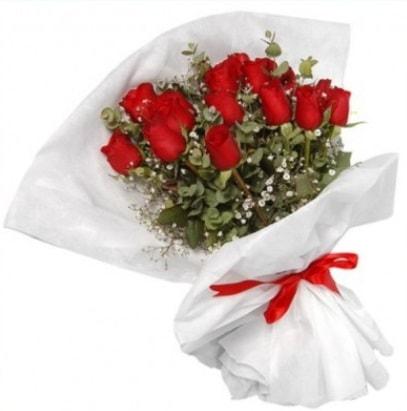 9 adet kırmızı gül buketi  Erzurum çiçek online çiçek siparişi