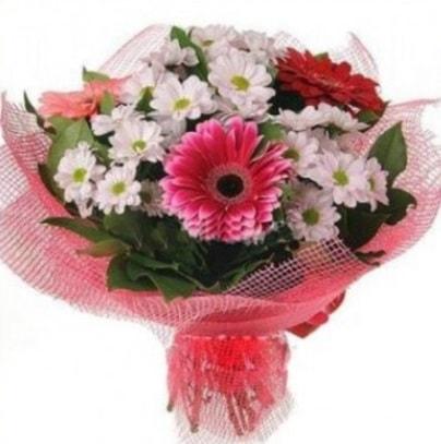 Gerbera ve kır çiçekleri buketi  Erzurum güvenli kaliteli hızlı çiçek