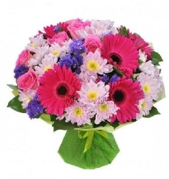 Karışık mevsim buketi mevsimsel buket  Erzurum uluslararası çiçek gönderme