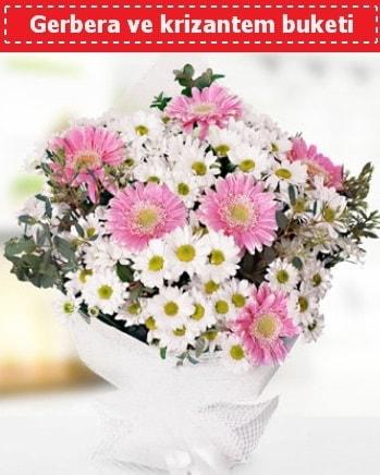 Papatya ve Gerbera Buketi  Erzurum 14 şubat sevgililer günü çiçek