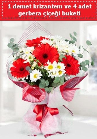 Krizantem ve Gerbera Buketi  Erzurum çiçek servisi , çiçekçi adresleri