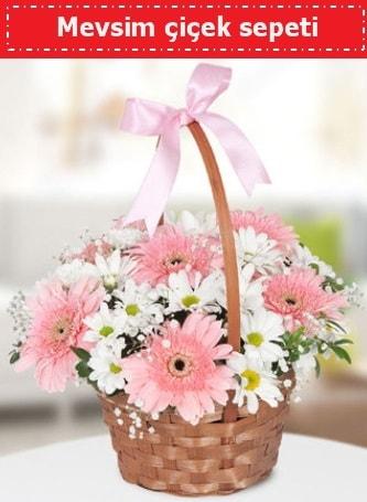 Mevsim kır çiçek sepeti  Erzurum 14 şubat sevgililer günü çiçek